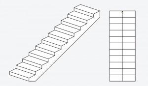 Tiesūs mediniai laiptai